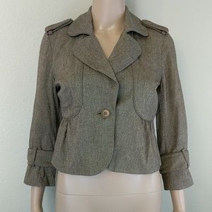 [Club Monaco] Wool Blend Peplum Crop Jacket